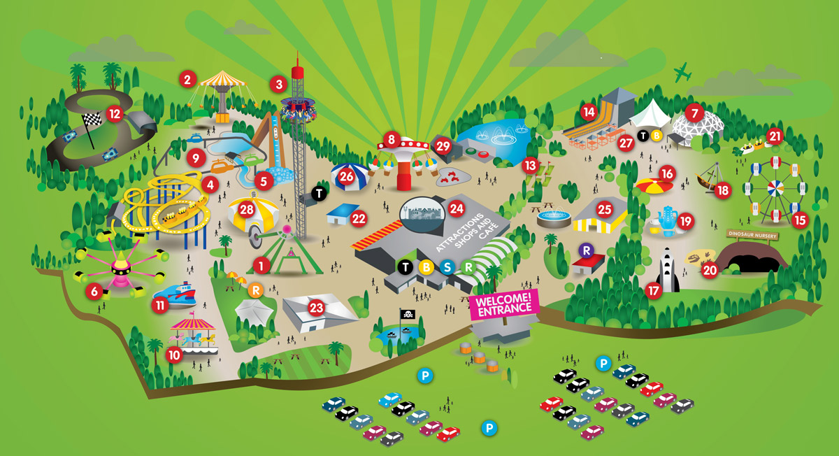 Flambards Interactive Map For Cornwall S Family Attraction