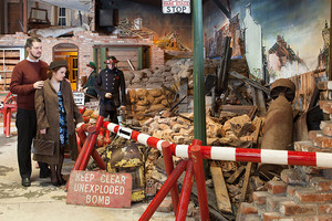 Britain in the Blitz. Award Winning Indoor Attractions. Flambards Theme Park, Helston, Cornwall.