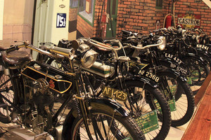 Vintage Motorcycles at Flambards, Helston, Cornwall