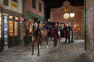 Victorian Village, Horse and Carriage, Indoor Attractions at Flambards Theme Park, Helston, Cornwall